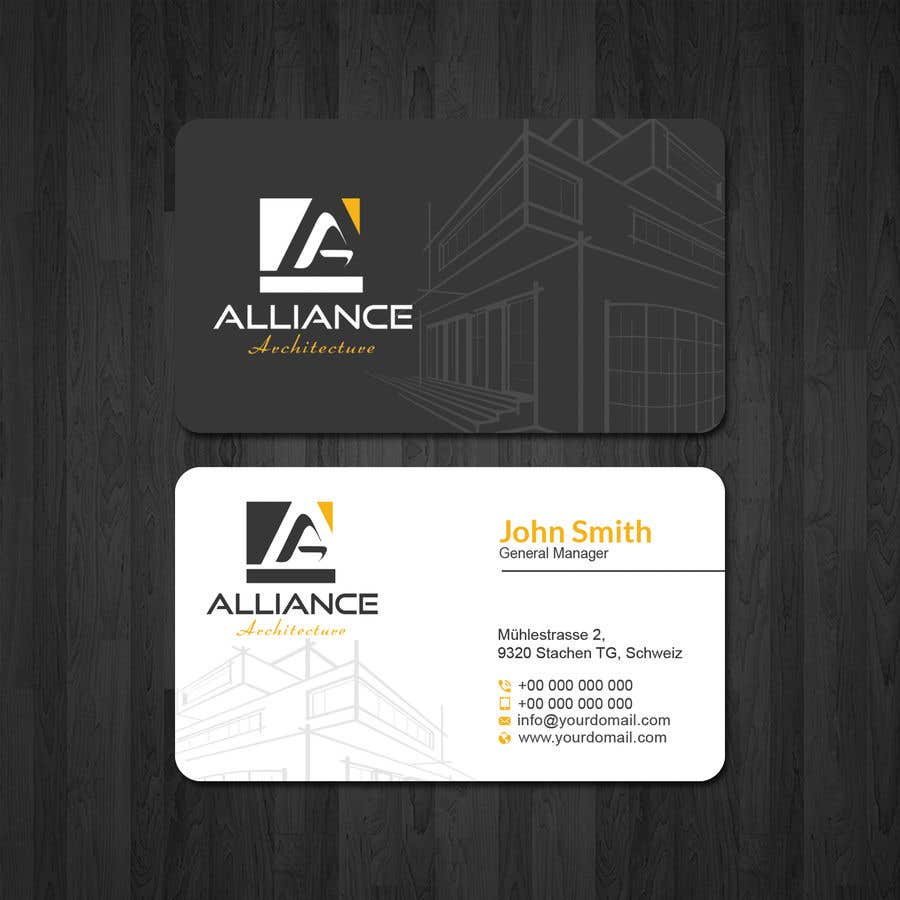 Entry #160 by papri802030 for business card for architect