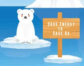 #14 for Design cute polar bear for GOOD CAUSE saving energy awareness campaign af abiadalyssac