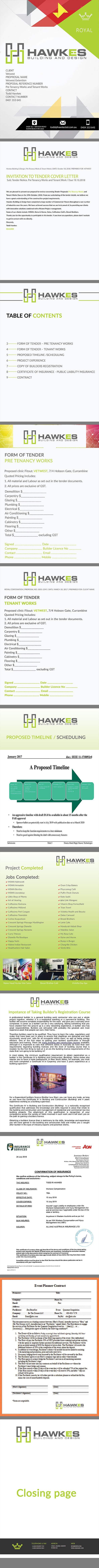 Kilpailutyö #11 kilpailussa Tender Proposal / Brochure