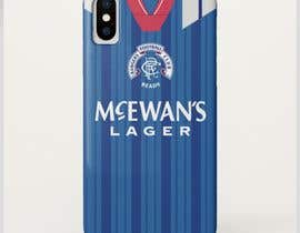 #26 for Retro Football Kit Phone Case Design af jeewoo258