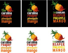 #38 for Bottle Label for a Pineapple Mango & Carolina Reaper Hot Sauce by istykristanto