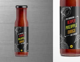 #34 for Bottle Label for a Pineapple Mango & Carolina Reaper Hot Sauce by Roshei