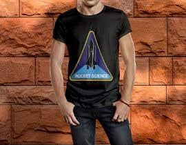 nº 67 pour Rocket Science Graphic T-Shirt Design par SajeebRohani