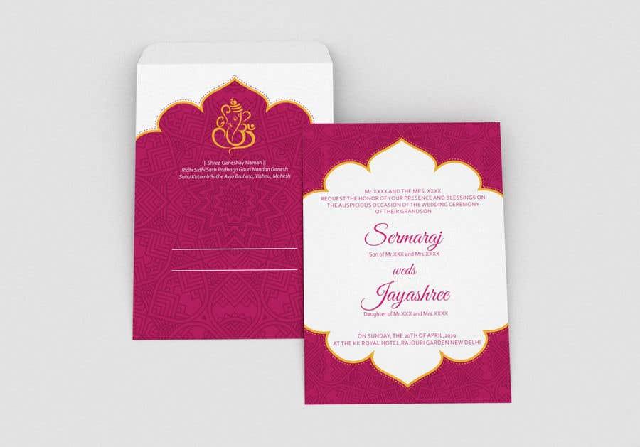 Entry 7 By Dissha For Hindu Wedding Invitation Card Design Freelancer