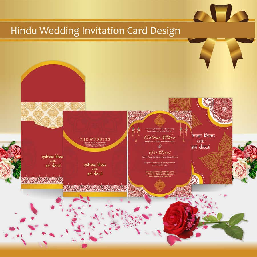 Entry 12 By Aangramli For Hindu Wedding Invitation Card Design