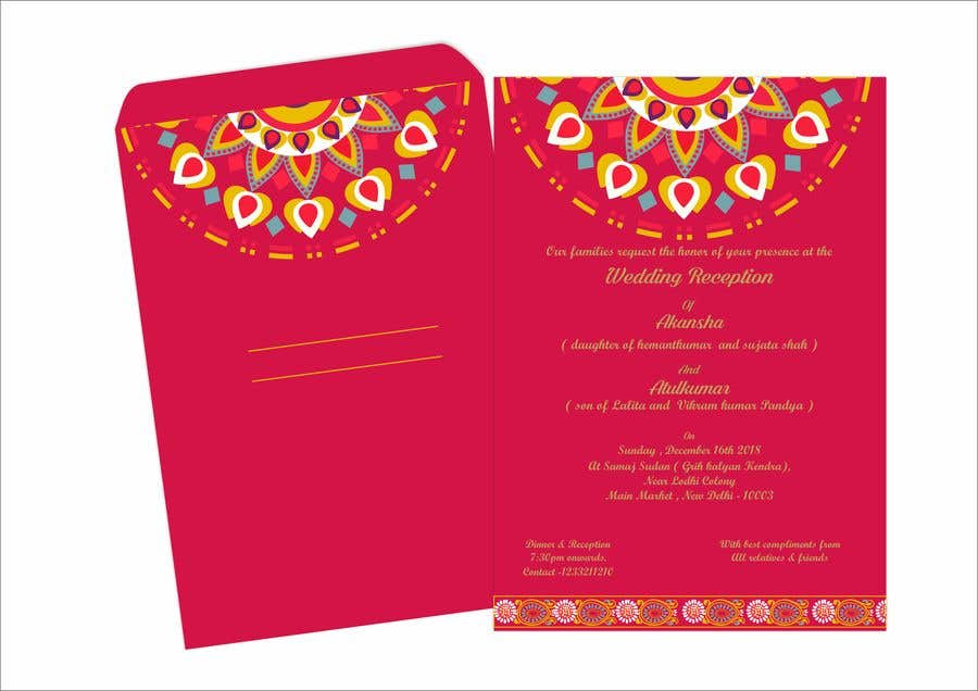 Entry 14 By Narvekarnetra02 For Hindu Wedding Invitation Card