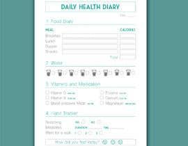 #11 untuk I need a food/exercise log designed oleh catialima90
