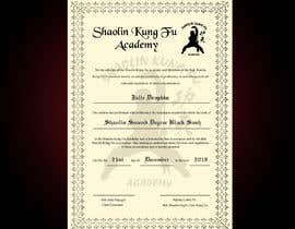 nº 19 pour Shaolin Kung Fu Certificate par jeevanmalra