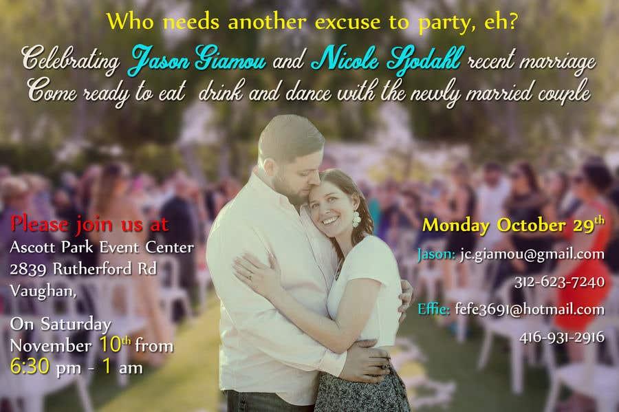 Proposition n°4 du concours post wedding reception e-vite