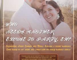 Nro 26 kilpailuun post wedding reception e-vite käyttäjältä blphotoeditor