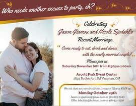Nro 10 kilpailuun post wedding reception e-vite käyttäjältä SaxenaKuldeep