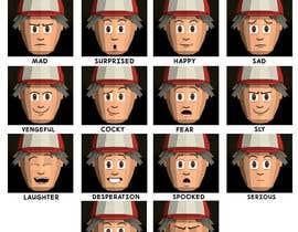 #25 para Facial expressions for a cute character de tarikchraiti