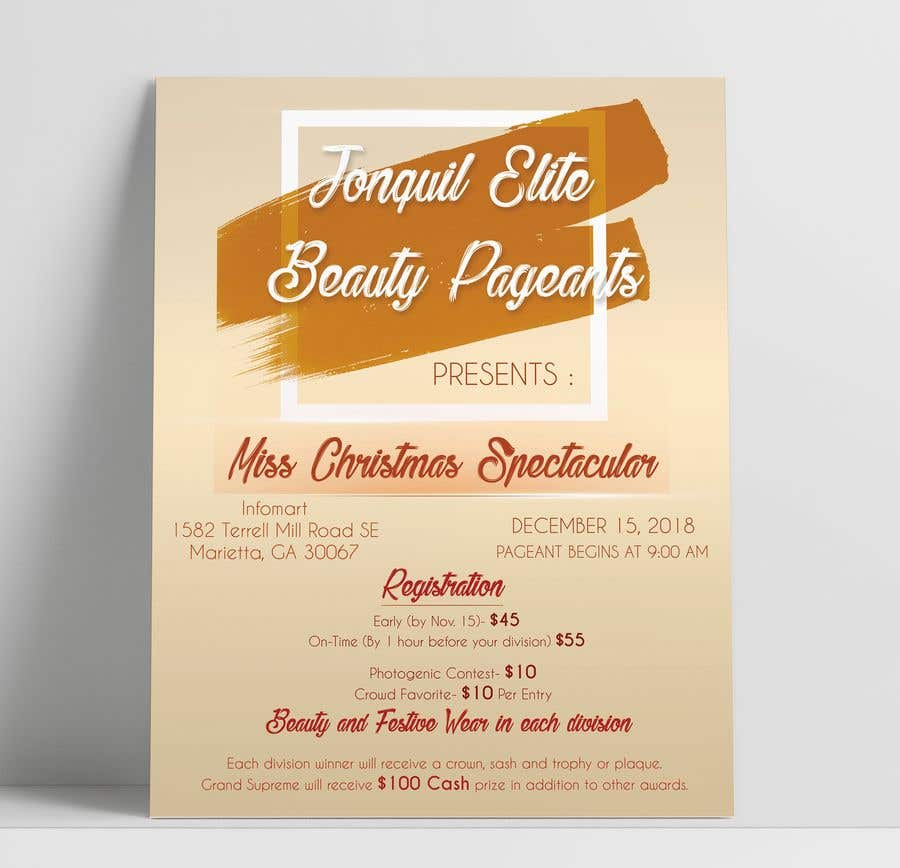 contest entry 1 for beauty pageant flyer needed