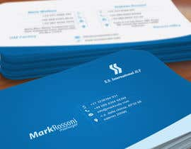 nº 33 pour Business Card Design for S.S. International par deniedart
