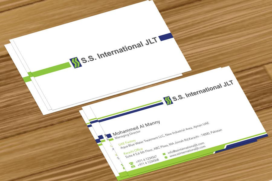 Entry #37 by jobee for Business Card Design for S.S. International ...