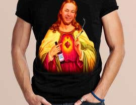 #97 untuk T-Shirt with Jesus drawing + face merge and text oleh DEV4LL