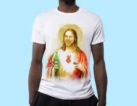 #34 untuk T-Shirt with Jesus drawing + face merge and text oleh Arun198011