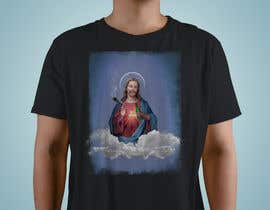 #100 untuk T-Shirt with Jesus drawing + face merge and text oleh Ricardo1349