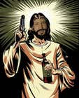 Graphic Design Konkurrenceindlæg #84 for T-Shirt with Jesus drawing + face merge and text