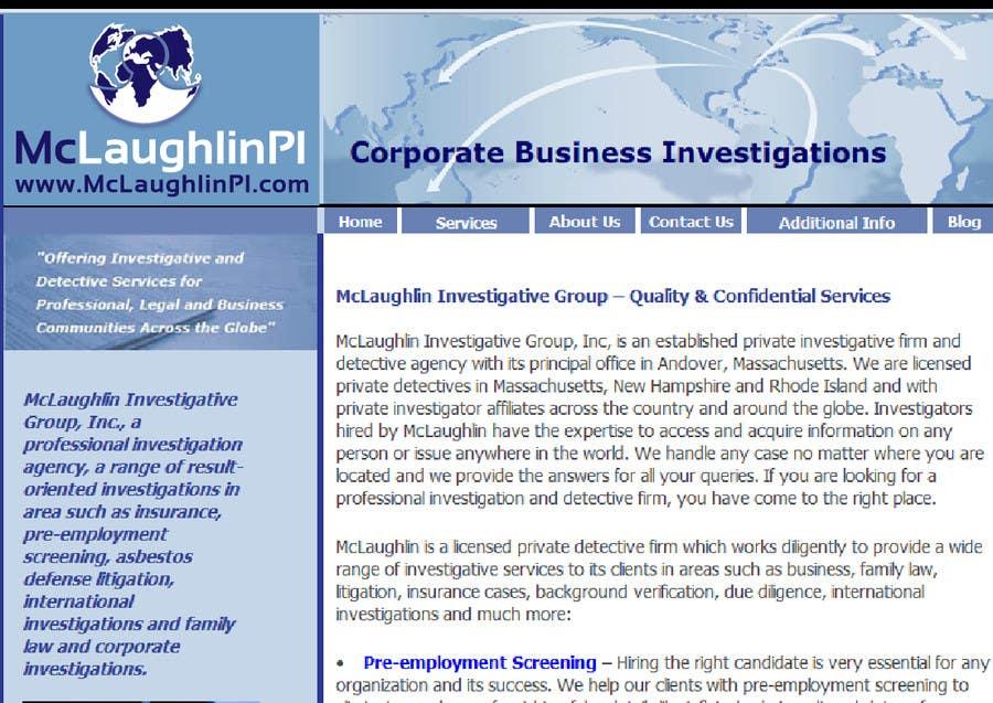 Конкурсная заявка №36 для Logo Design for www.McLaughlinPI.com