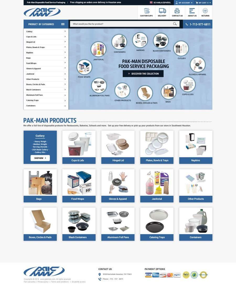 Konkurrenceindlæg #115 for Redesign Homepage of Storefront