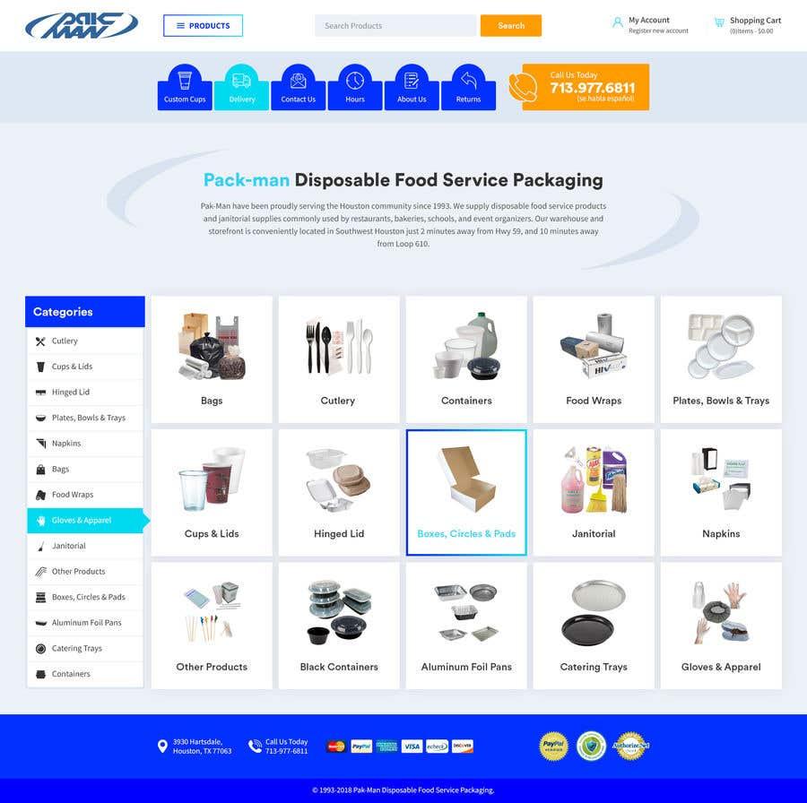Konkurrenceindlæg #81 for Redesign Homepage of Storefront