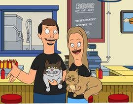 #9 for Draw me, my wife, and our cats in a custom Bob's Burgers portrait af Rotzilla