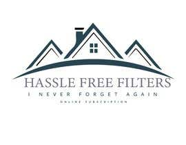 "#4 for I need a logo for hasslefreefilters.com. I want it highlighted with a modern outline of a house. A slogan that says ""never forget again"" underneath. Also writing that says ""online subscription"" by mobeenakhter68"
