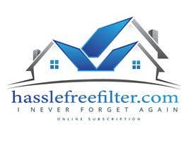 "#6 for I need a logo for hasslefreefilters.com. I want it highlighted with a modern outline of a house. A slogan that says ""never forget again"" underneath. Also writing that says ""online subscription"" by mobeenakhter68"