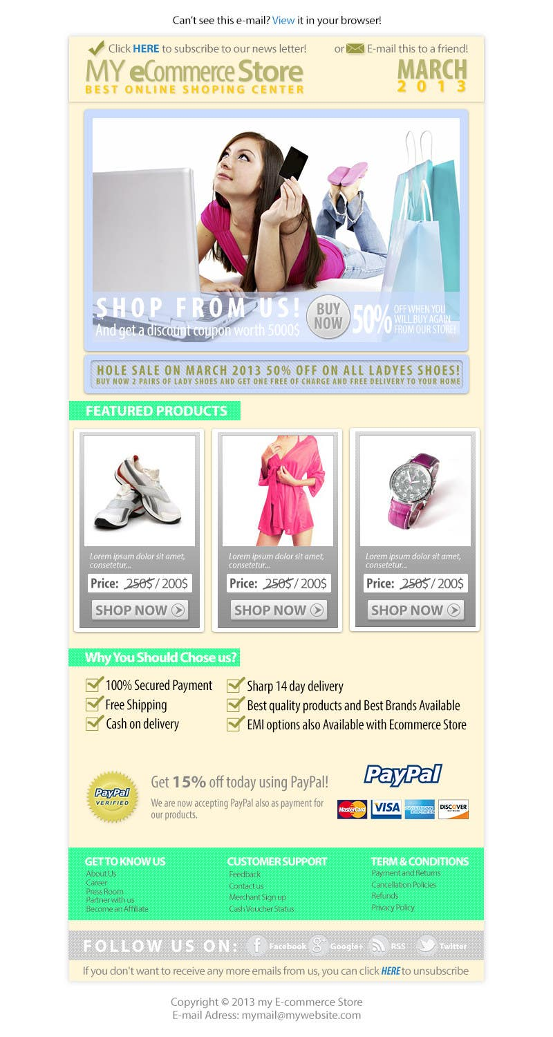 Contest Entry #                                        4                                      for                                         Email Marketing Template - e-Commerce