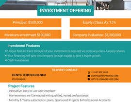 #25 for Design an Investment Flyer by sabrinaparvin77