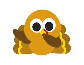 Nro 22 kilpailuun Design a dabbing Turkey color vector image for a cookie cutter käyttäjältä Savioperera