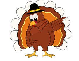 Nro 19 kilpailuun Design a dabbing Turkey color vector image for a cookie cutter käyttäjältä sonalfriends86