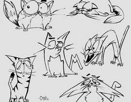 #203 for Draw 3 funny cartoon animals by ecomoglio
