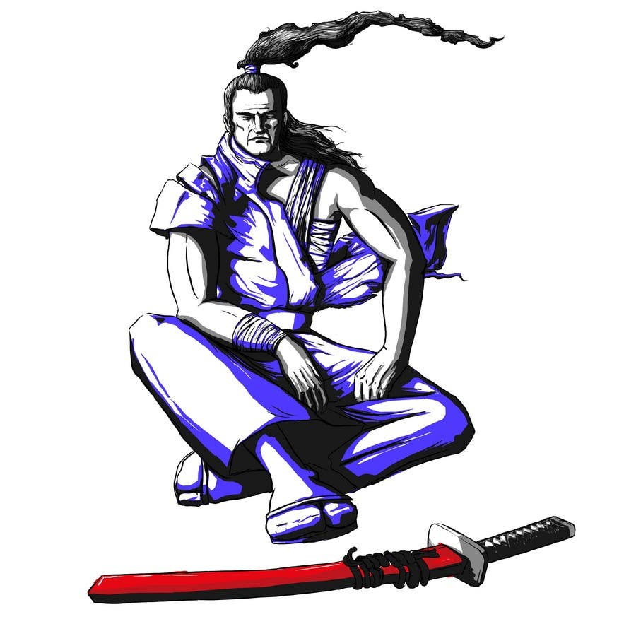 Contest Entry #                                        82                                      for                                         Samurai T-shirt Design for Cripplejitsu