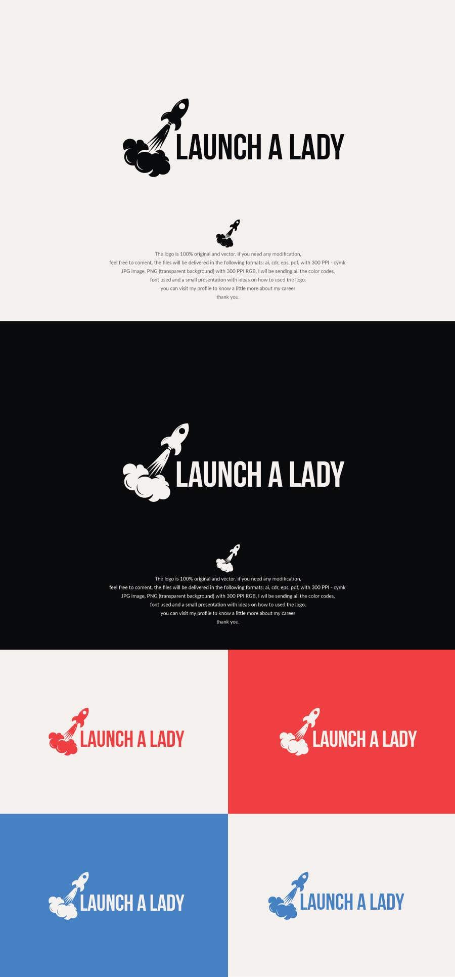 Kilpailutyö #41 kilpailussa logo for launch a lady