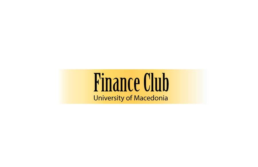 Inscrição nº                                         6                                      do Concurso para                                         Разработка логотипа for Finance Club of University of Macedonia