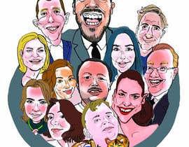 #1 для Draw caricatures of 8 heads, to put on a company Christmas card від Valadar