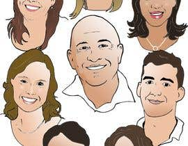 #8 for Draw caricatures of 8 heads, to put on a company Christmas card af manikmoon