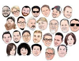 #3 for Draw caricatures of 8 heads, to put on a company Christmas card af dukudraw