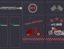 #34 untuk Moped.Ge Moped and Motorcycle shop front sticker design oleh gabba13