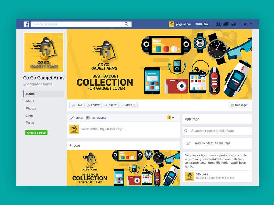 Kilpailutyö #59 kilpailussa Facebook Page Design Work