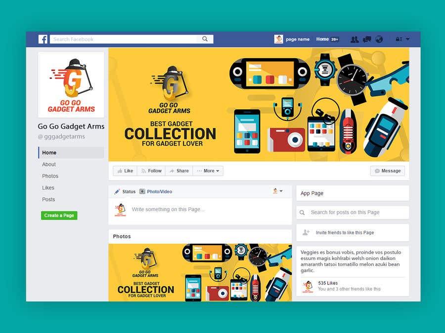 Kilpailutyö #62 kilpailussa Facebook Page Design Work