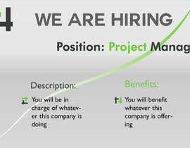 """#37 dla Post for """"We Are Hiring"""" - Ad For New Available job przez georgeivascu"""