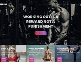 #8 for Design single page website for fitness center by Vasudevvasa