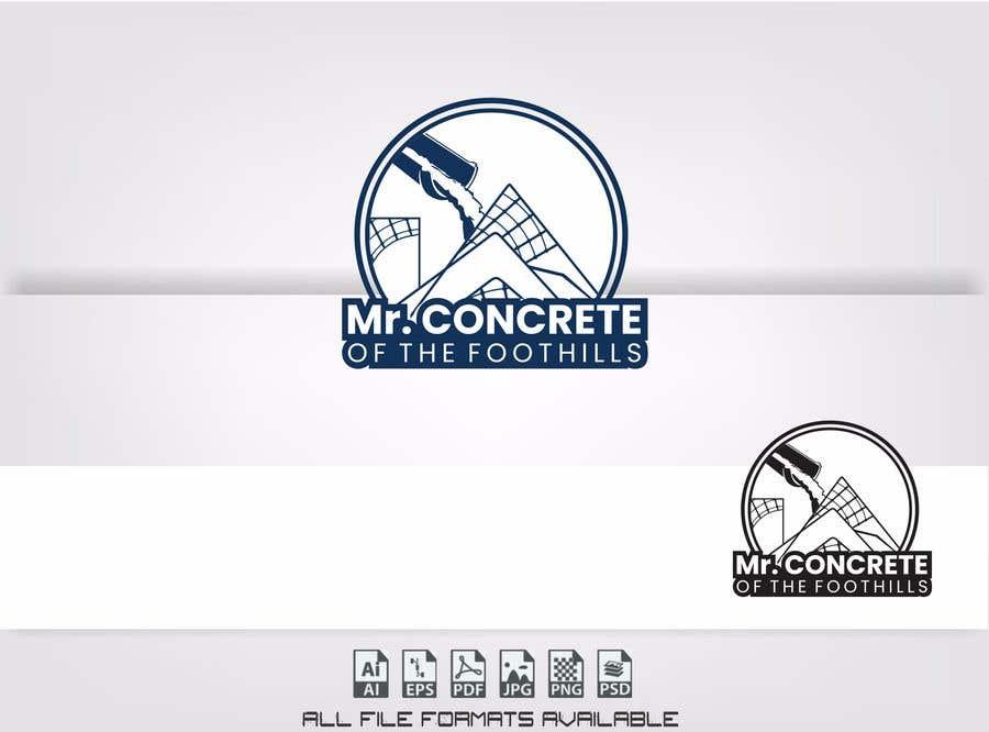 Konkurrenceindlæg #42 for Mr Concrete of the Foothills Logo