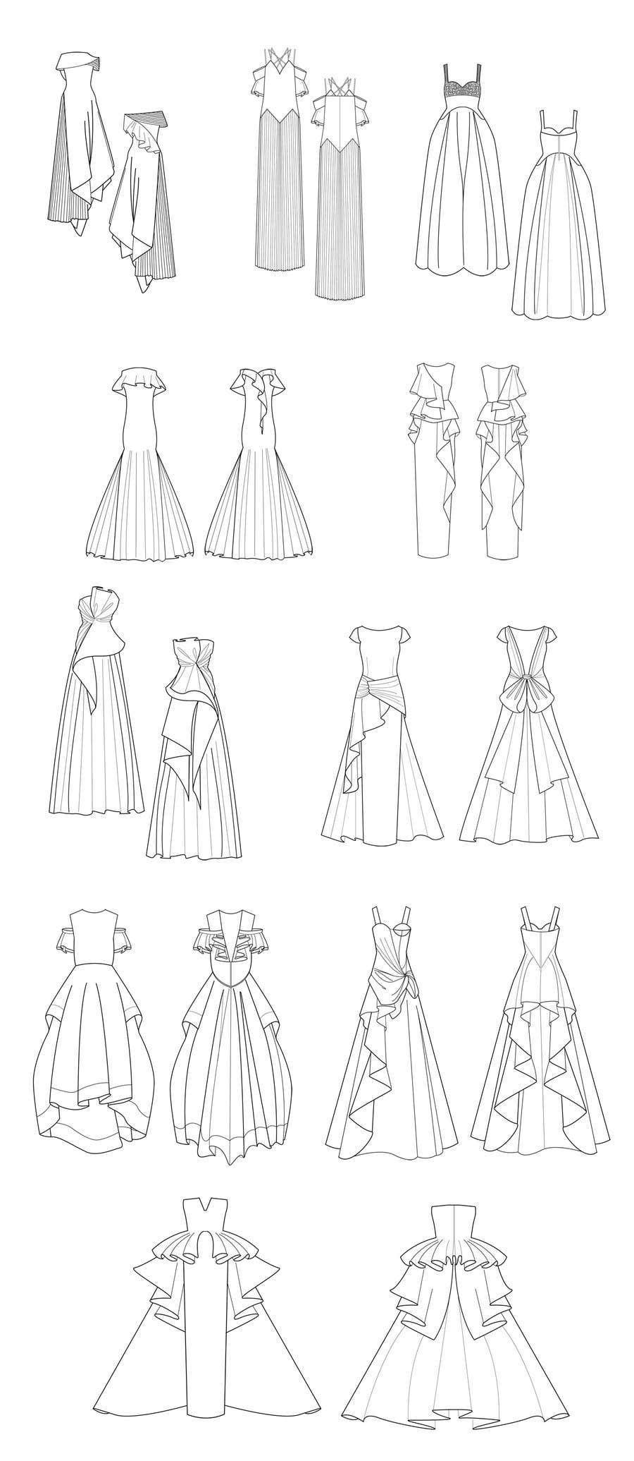 Kilpailutyö #21 kilpailussa fashion technical drawing illustrator