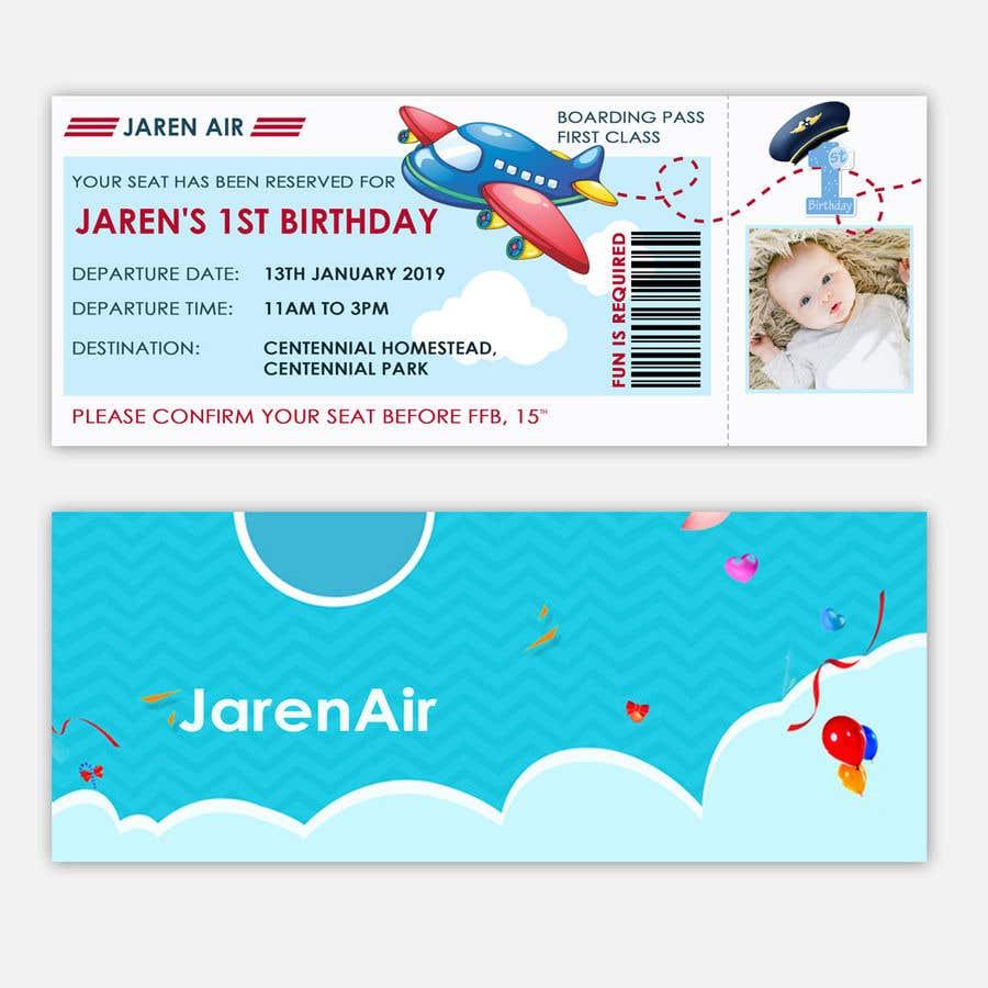 Kilpailutyö #8 kilpailussa I need a Birthday Invitation Done