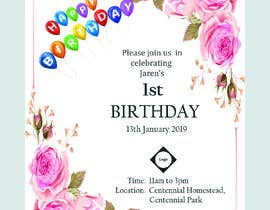 #7 for I need a Birthday Invitation Done av Heartbd5