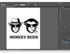 Nro 7 kilpailuun I need a logo designed for an upper market vape and marijuana store named Monkey Budz the logo must contain 2 monkey heads one smoking a blunt the other vaping. Something classy that will appear to both young and old generations käyttäjältä silverheart147